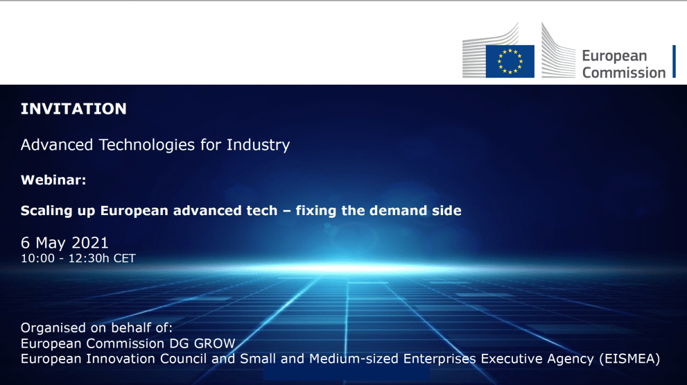 Scaling up European advanced tech - fixing the demand side @ Online