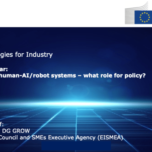 Next generation of human-AI/robot systems – what role for policy?